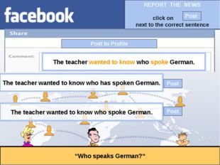 """Post to Profile """"Who speaks German?"""" The teacher wanted to know who spoke Ger"""