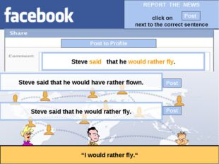 """Post to Profile """"I would rather fly."""" Steve said that he would rather fly. St"""
