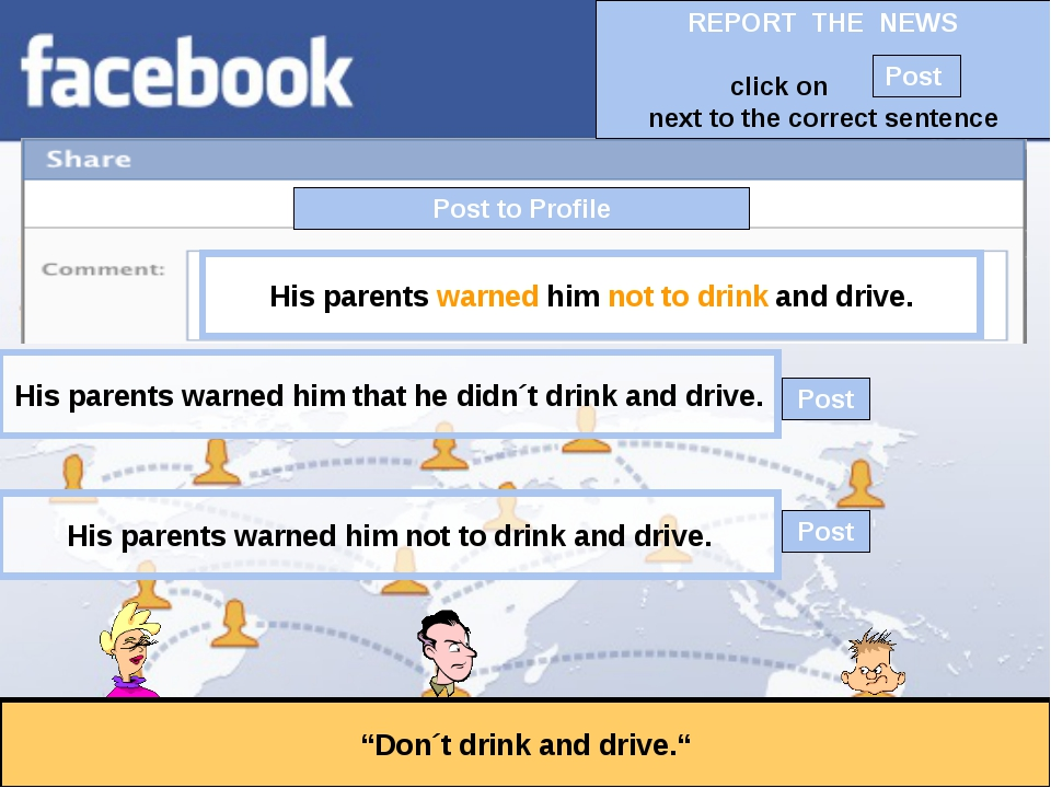 """Post to Profile """"Don´t drink and drive."""" His parents warned him not to drink..."""