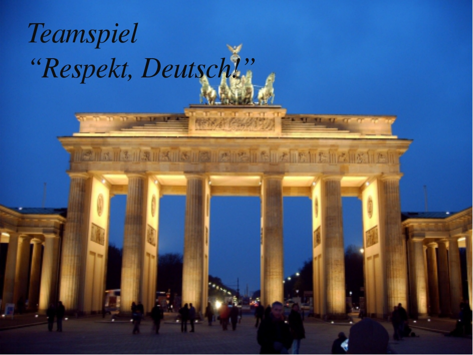 "Teamspiel ""Respekt, Deutsch!"""