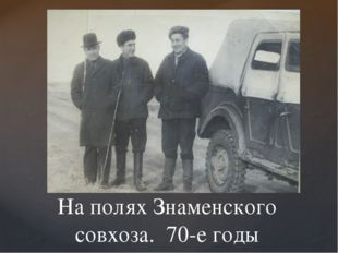 На полях Знаменского совхоза. 70-е годы