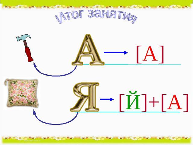 [А] [Й]+[А]