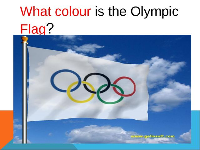 What colour is the Olympic Flag?