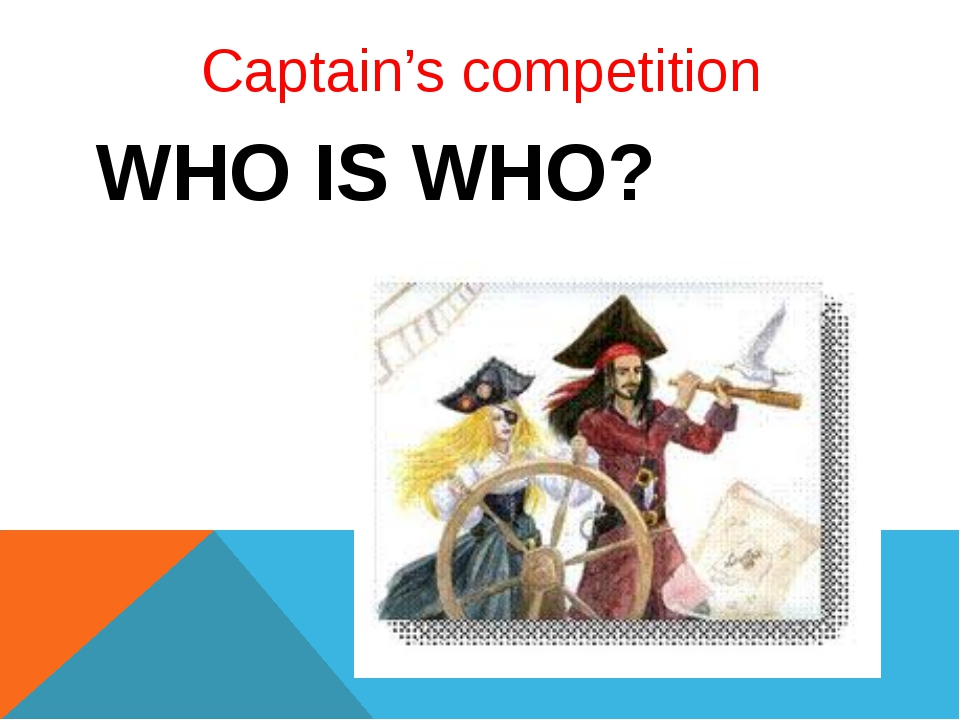Captain's competition WHO IS WHO?