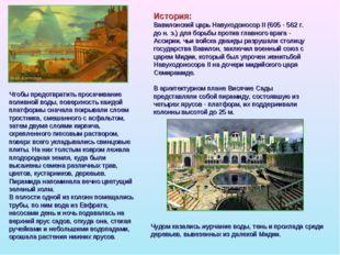 История: Вавилонский царь Навуходоносор II (605 - 562 г. до н. э.) для борьбы