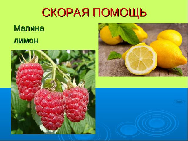 СКОРАЯ ПОМОЩЬ Малина лимон
