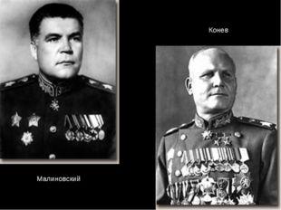 Малиновский Конев