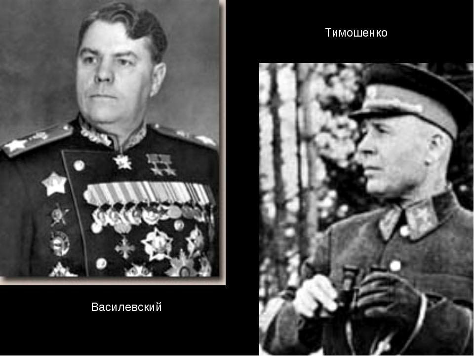 Василевский Тимошенко