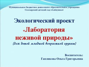 Муниципальное бюджетное дошкольное образовательное учреждение Скосырский детс
