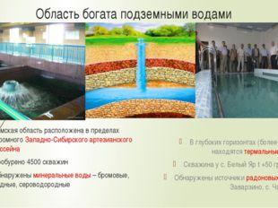 Область богата подземными водами Томская область расположена в пределах огром