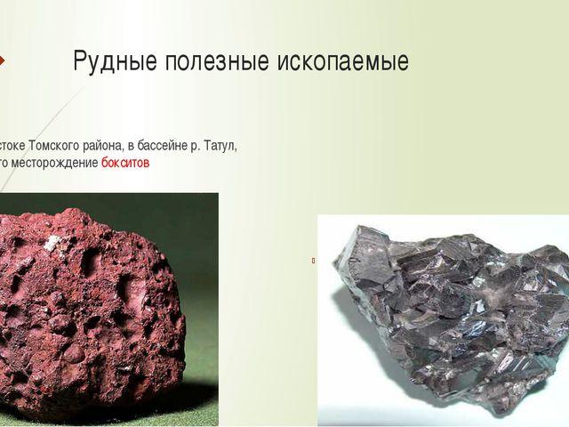 Рудные полезные ископаемые На востоке Томского района, в бассейне р. Татул, о...