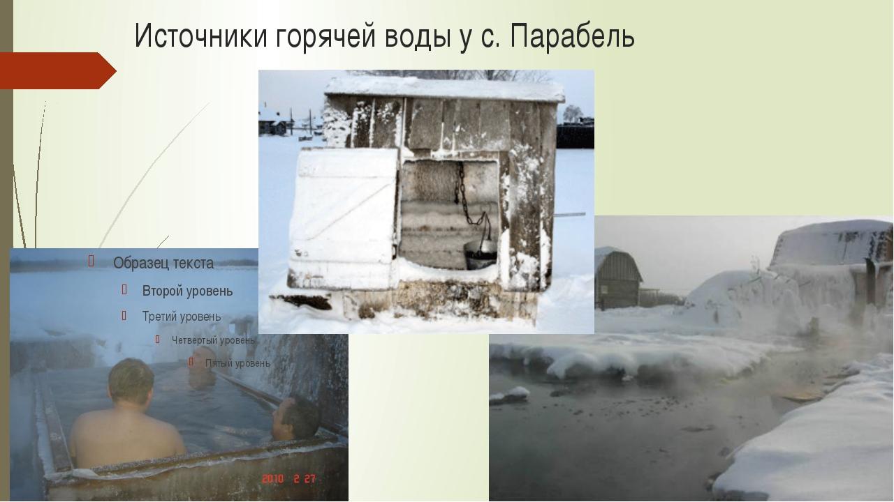 Источники горячей воды у с. Парабель