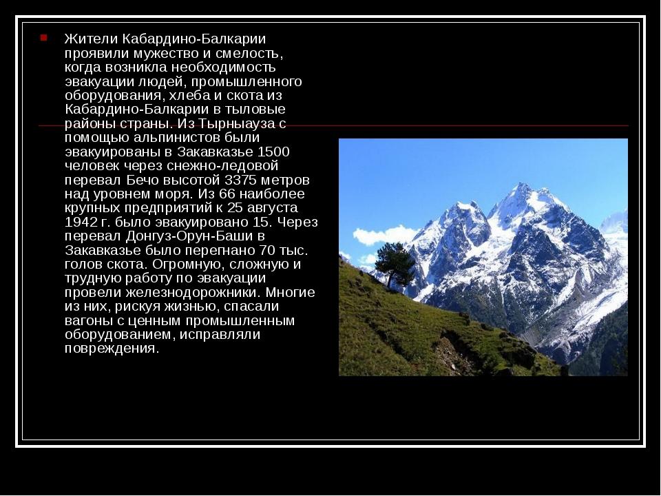 Жители Кабардино-Балкарии проявили мужество и смелость, когда возникла необхо...
