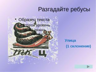 Разгадайте ребусы Огород (2 склонение)