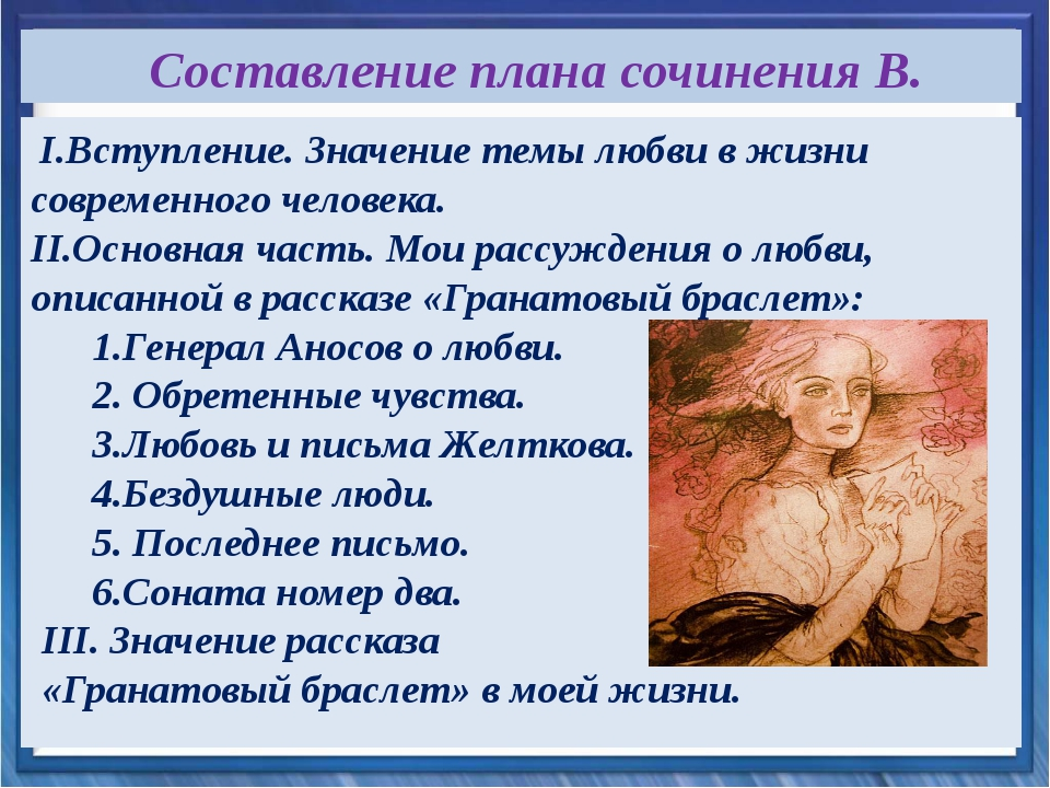 I.Вступление. Значение темы любви в жизни современного человека. II.Основная...