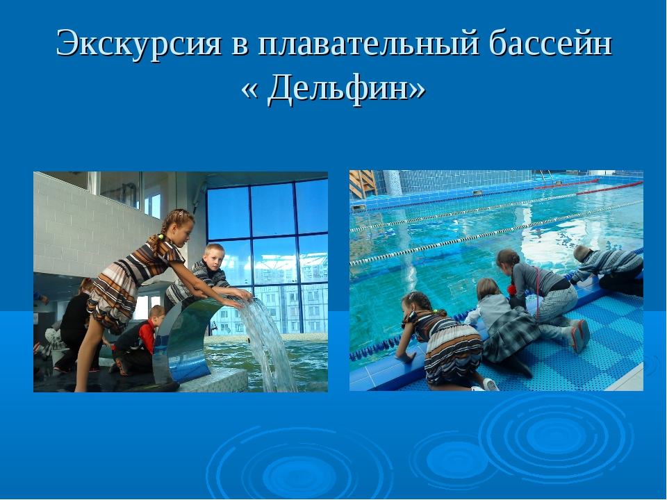 Экскурсия в плавательный бассейн « Дельфин»