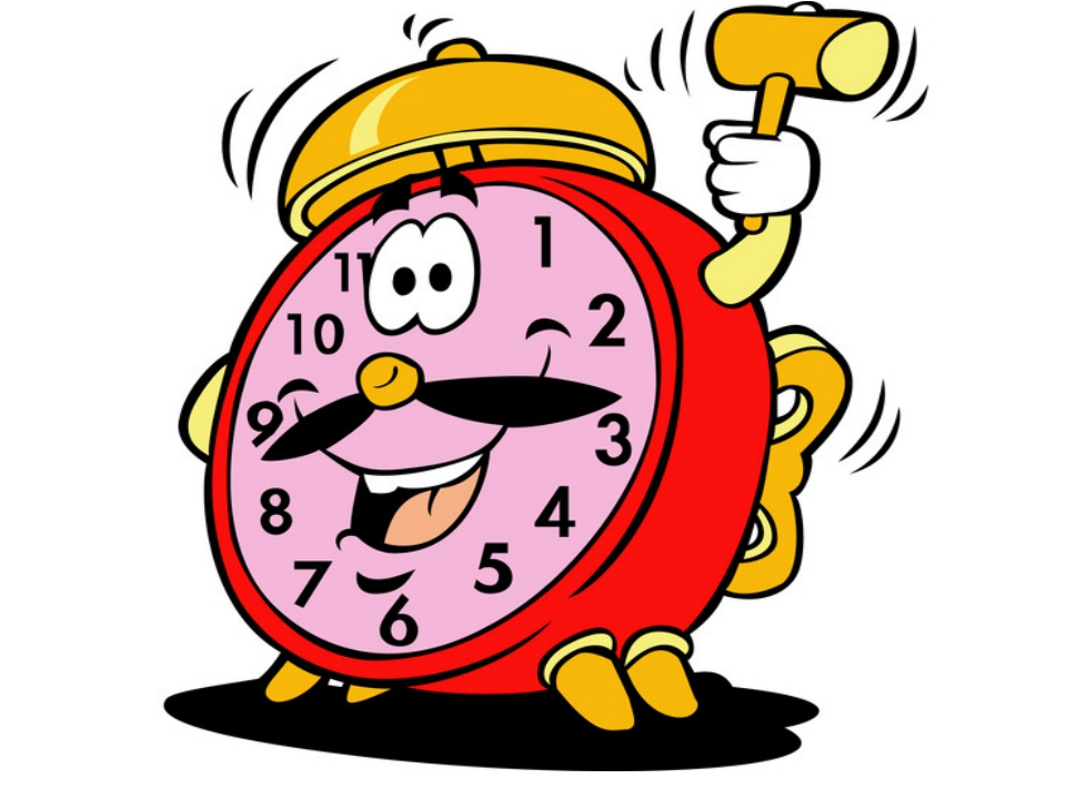Картинка веселый будильник анимация
