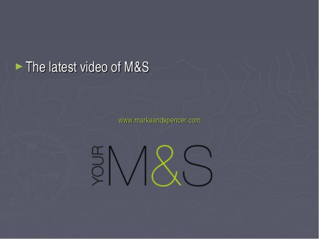 The latest video of M&S www.marksandspencer.com