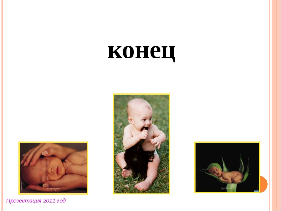 конец Презентация 2011 год