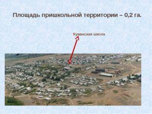 Площадь пришкольной территории – 0,2 га. Кумакская школа