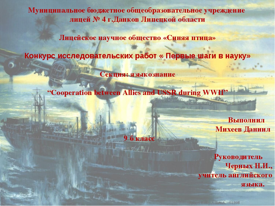 Муниципальное бюджетное общеобразовательное учреждение лицей № 4 г.Данков Лип...
