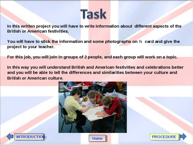 In this written project you will have to write information about different as...