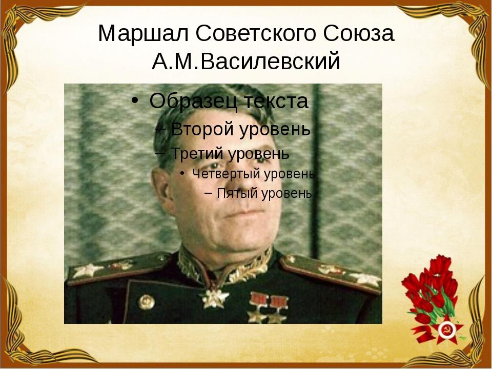 Маршал Советского Союза А.М.Василевский