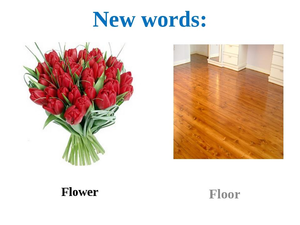 New words: Flower Floor