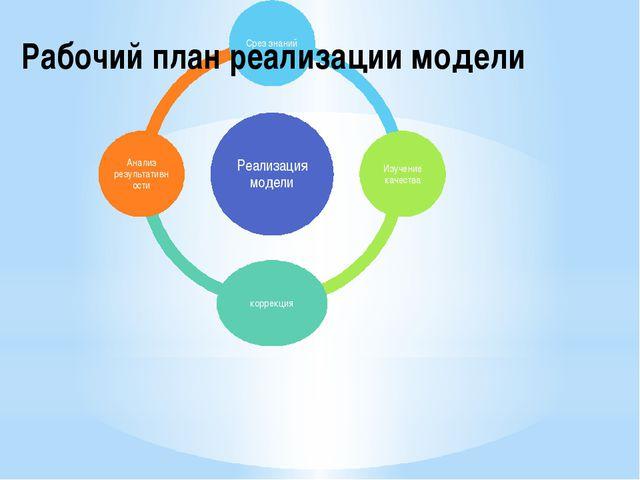 Рабочий план реализации модели