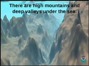 There are high mountains and deep valleys under the sea.