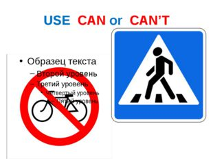 USE CAN or CAN'T
