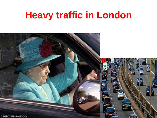Heavy traffic in London