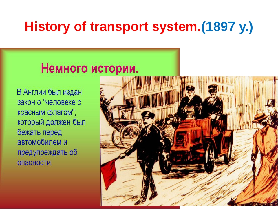 History of transport system.(1897 y.)