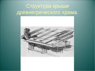 Структура крыши древнегреческого храма.