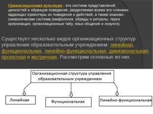 Организационная культура- это система представлений, ценностей и образцов по