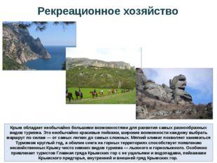 Крым обладает необычайно большими возможностями для развития самых разнообраз