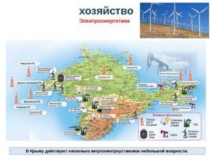 В Крыму действуют несколько ветроэлектроустановок небольшой мощности. хозяйст