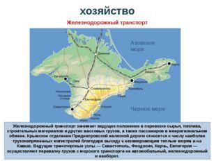 Железнодорожный транспорт занимает ведущее положение в перевозке сырья, топли