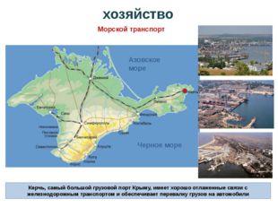 Керчь, самый большой грузовой порт Крыму, имеет хорошо отлаженные связи с жел