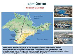 Севастополь является ведущим рыбным портом, базой рыболовецкого флота и рыбо