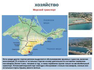 Ялта среди других портов региона выделяется обслуживанием круизных туристов,