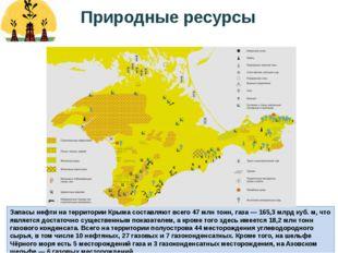 Запасы нефти на территории Крыма составляют всего 47млн тонн, газа— 165,3м