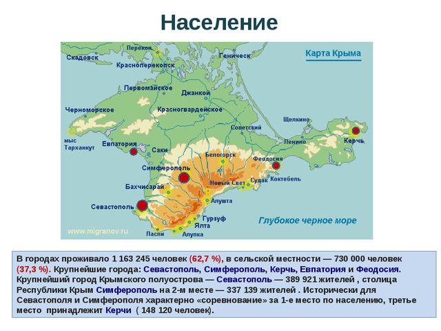 В городах проживало 1 163 245 человек (62,7%), в сельской местности— 730 00...