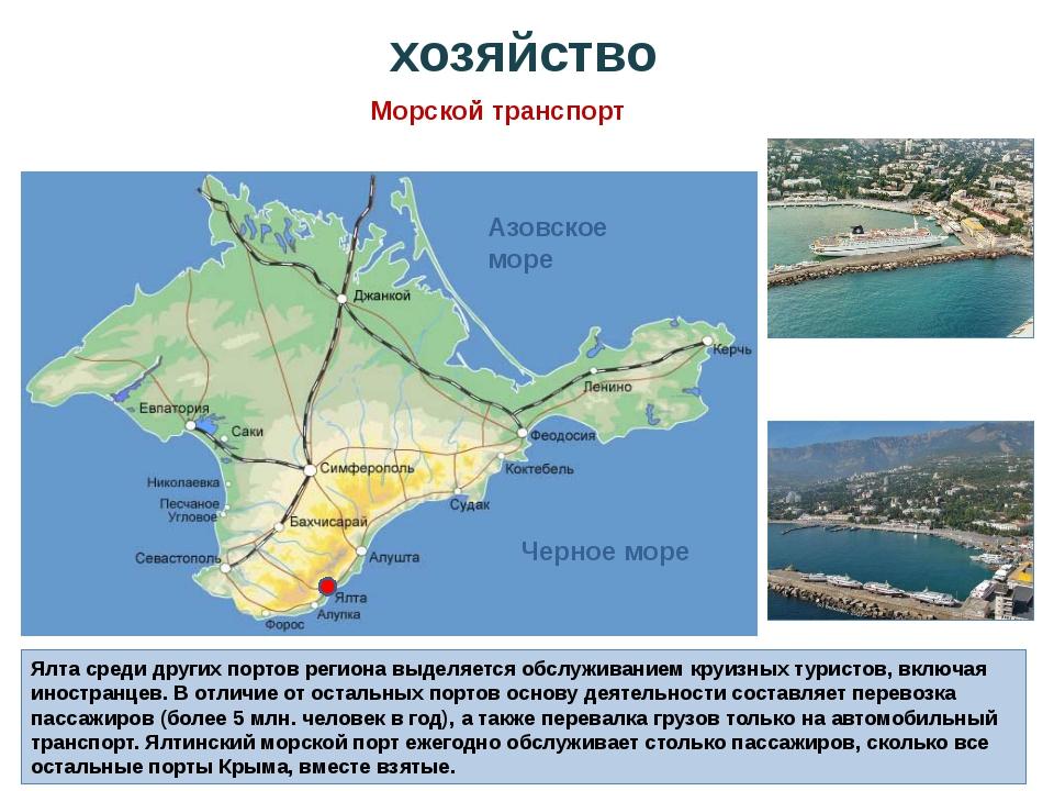 Ялта среди других портов региона выделяется обслуживанием круизных туристов,...