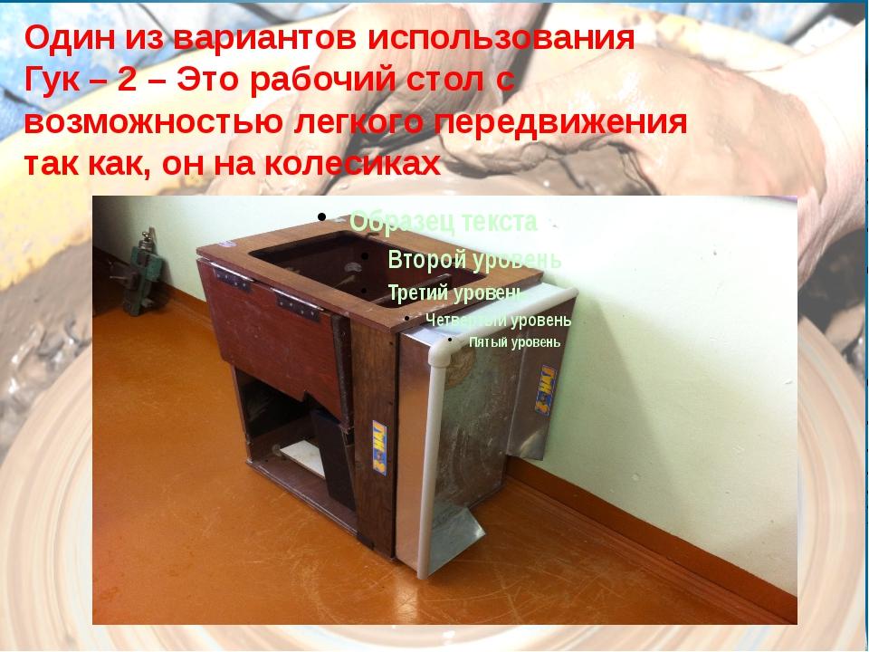 Один из вариантов использования Гук – 2 – Это рабочий стол с возможностью лег...