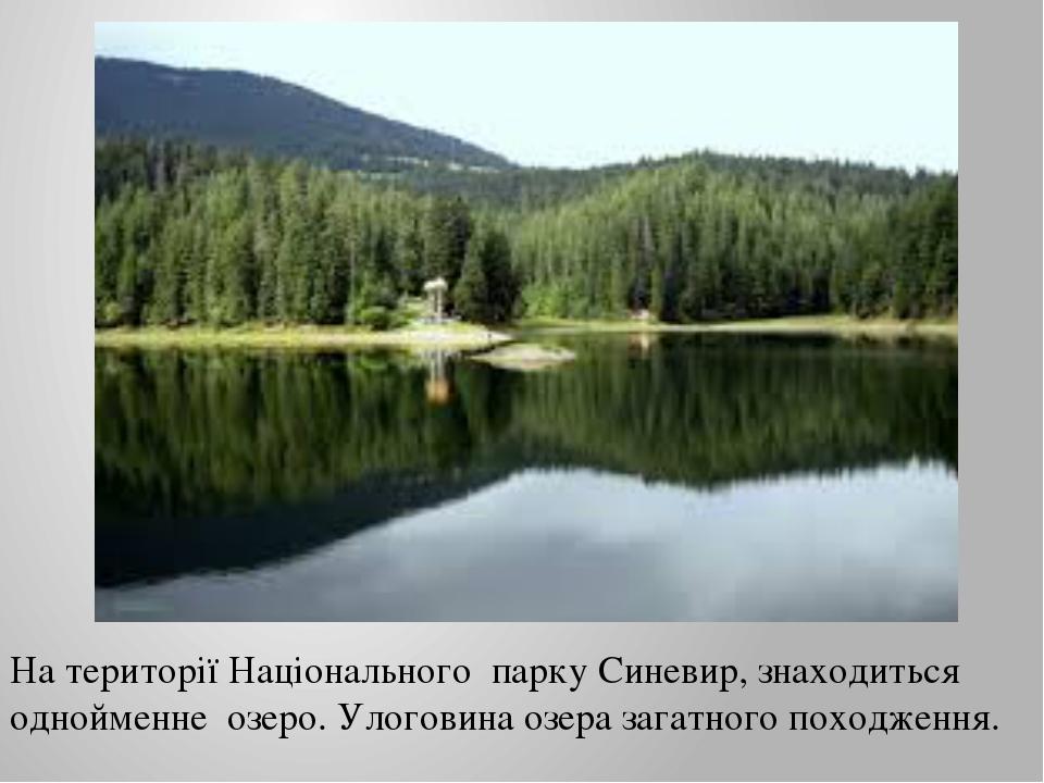 На території Національного парку Синевир, знаходиться однойменне озеро. Улого...