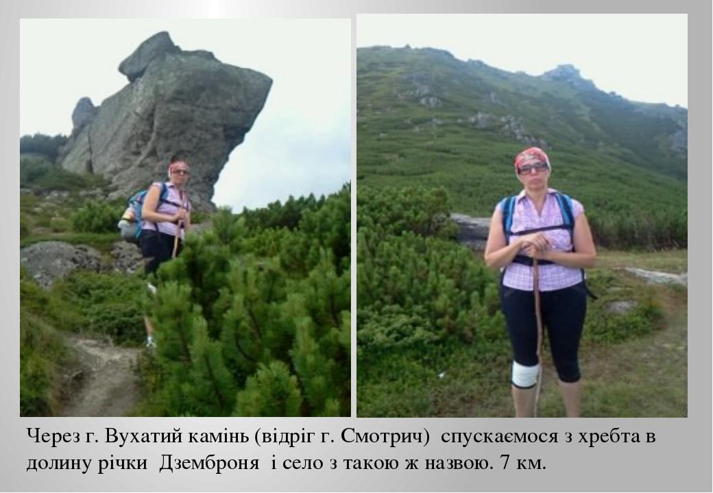 Через г. Вухатий камінь (відріг г. Смотрич) спускаємося з хребта в долину річ...