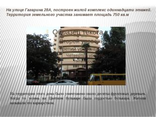 На улице Гагарина 28А, построен жилой комплекс одиннадцати этажей. Территория