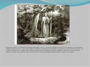 Святитель, повинуясь воле Божией и Владычицы Богородицы, посылает преподобно