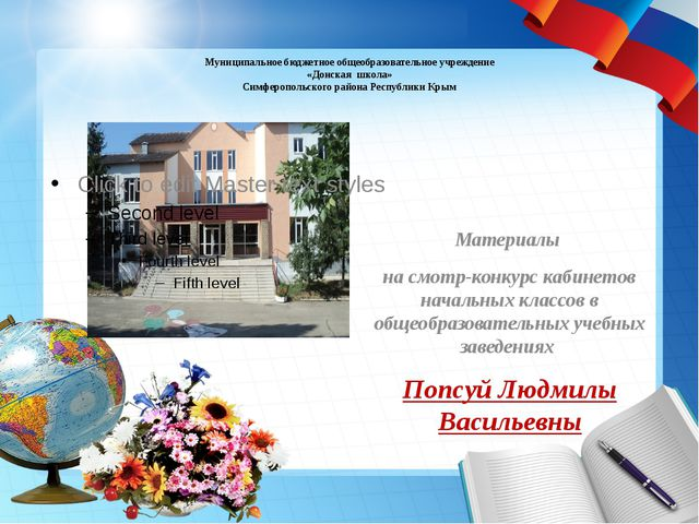 Муниципальное бюджетное общеобразовательное учреждение «Донская школа» Симфе...